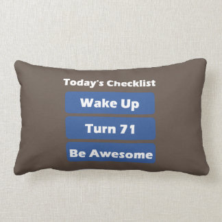 71st Birthday Lumbar Pillow