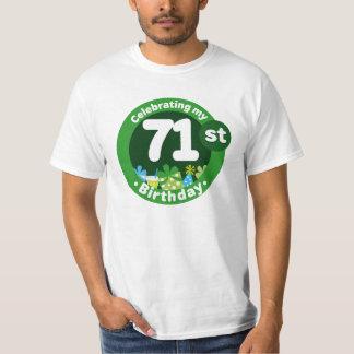 71st Birthday Party Celebration Mens T-shirt