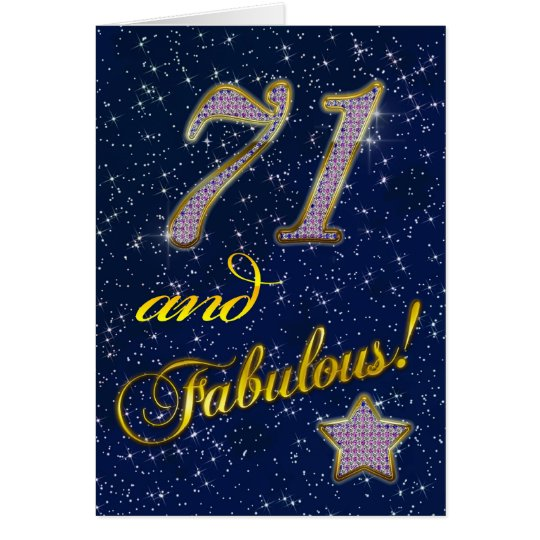 71st Birthday party Invitation