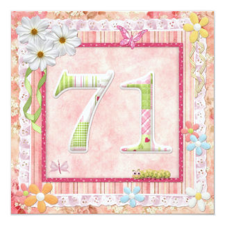 71st birthday party scrapbooking style card