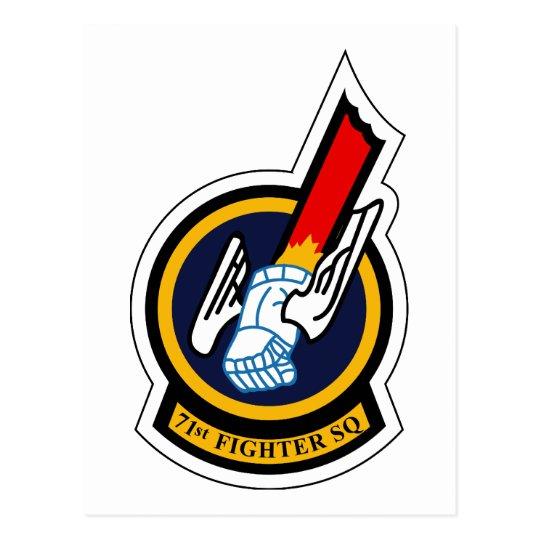 71st Fighter Squadron Postcard