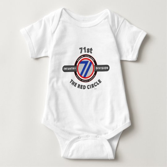 """71ST INFANTRY DIVISION """"THE RED CIRCLE"""" BABY BODYSUIT"""