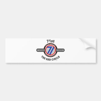 "71ST INFANTRY DIVISION ""THE RED CIRCLE"" BUMPER STICKER"