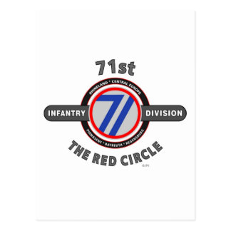 "71ST INFANTRY DIVISION ""THE RED CIRCLE"" POSTCARD"