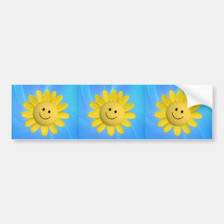 720227 HAPPY SUN FLOWER SMILIE FACE CARTOON GRAPHI BUMPER STICKER