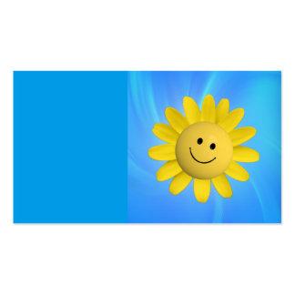 720227 HAPPY SUN FLOWER SMILIE FACE CARTOON GRAPHI BUSINESS CARD