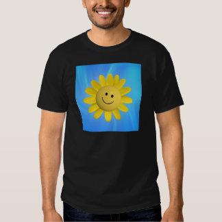 720227 HAPPY SUN FLOWER SMILIE FACE CARTOON GRAPHI SHIRT