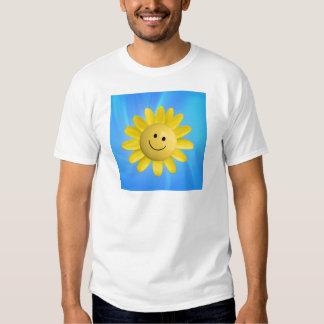 720227 HAPPY SUN FLOWER SMILIE FACE CARTOON GRAPHI T SHIRT