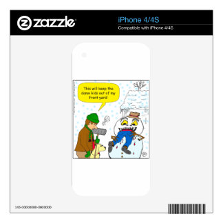 720 keep kids out of my front yard cartoon decals for iPhone 4