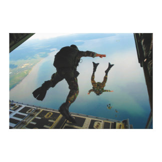 720h Special Tactics Group Jumping Out of Planet Stretched Canvas Prints