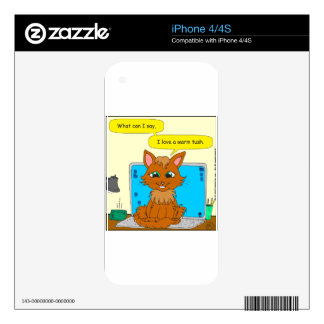 721 warm tush cat cartoon decal for the iPhone 4S