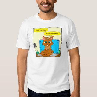 721 warm tush cat cartoon t-shirt