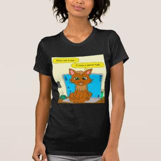 721 warm tush cat cartoon tee shirt