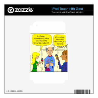722 protons neutrons and electrons cartoon iPod touch 4G decal
