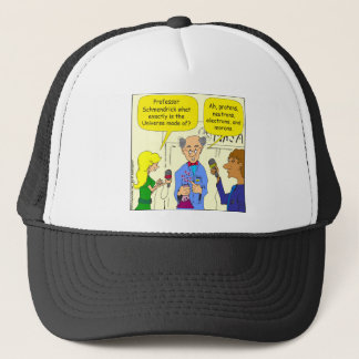 722 protons neutrons and electrons cartoon trucker hat