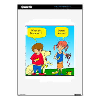 723 chicks and worm cartoon decal for the iPad 2