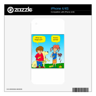 723 chicks and worm cartoon decal for the iPhone 4S