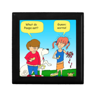 723 chicks and worm cartoon gift box