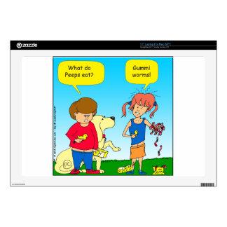 723 chicks and worm cartoon laptop skins