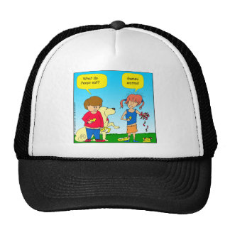 723 chicks and worm cartoon trucker hat
