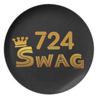 724 Area Code Swag Melamine Plate