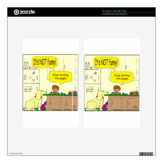 724 Stop turning the pages cartoon Decals For Kindle Fire