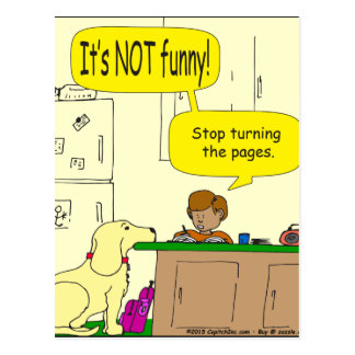 724 Stop turning the pages cartoon Postcard