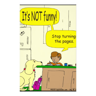 724 Stop turning the pages cartoon Stationery
