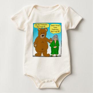 725 Bear bare fundraiser cartoon Baby Creeper