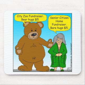 725 Bear bare fundraiser cartoon Mouse Pad