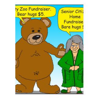 725 Bear bare fundraiser cartoon Postcard