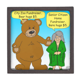 725 Bear bare fundraiser cartoon Premium Jewelry Box