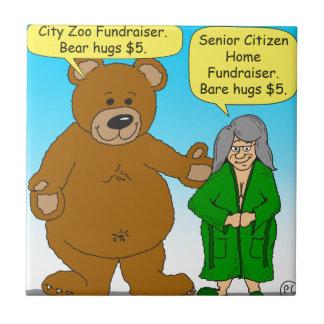 725 Bear bare fundraiser cartoon Tile