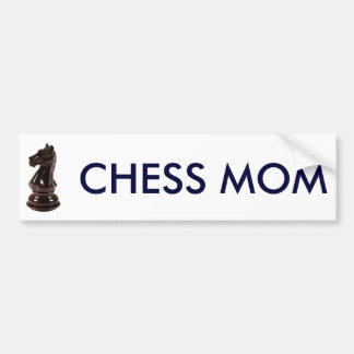 7269chess_knight, CHESS MOM Bumper Sticker