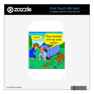 726 Wine cellar dog and cat cartoon iPod Touch 4G Skins