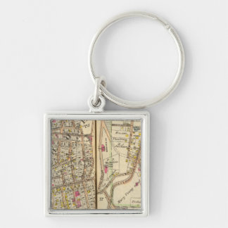 7273 Tuckahoe, East Chester Silver-Colored Square Keychain
