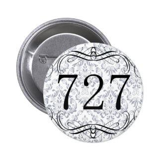 727 Area Code Pinback Button