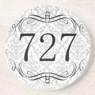 727 Area Code Beverage Coasters
