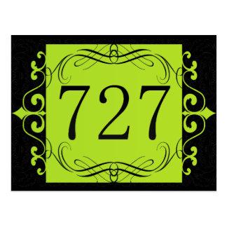 727 Area Code Postcard