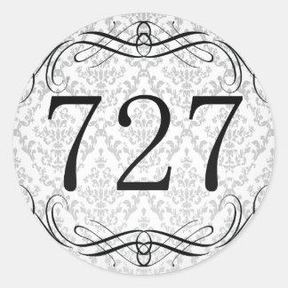 727 Area Code Classic Round Sticker