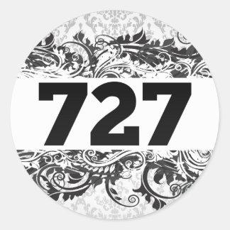 727 CLASSIC ROUND STICKER