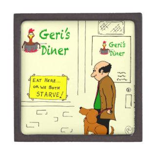 728 Both starve if you don't eat here cartoon Premium Trinket Box