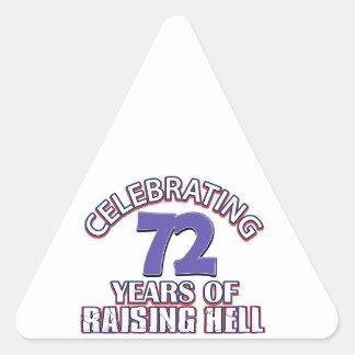 72 años de infierno de aumento pegatina triangular