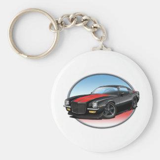 72 Black R Camaro.png Basic Round Button Keychain