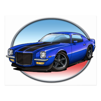 72 Blue B Camaro.png Postcard