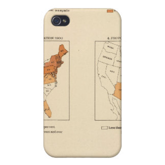 72 Density, proportion, increase, foreign born iPhone 4 Cases