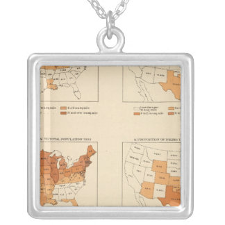 72 Density, proportion, increase, foreign born Personalized Necklace
