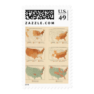72 Density, proportion, increase, foreign born Postage