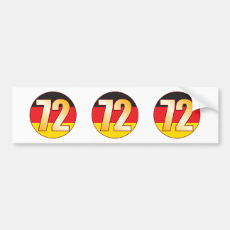 72 GERMANY Gold Bumper Sticker