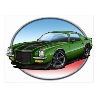 72 Green B Camaro.png Post Card